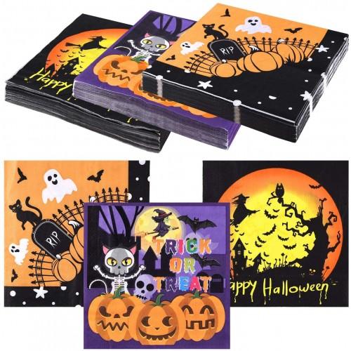 60 Tovaglioli Halloween varie fantasie