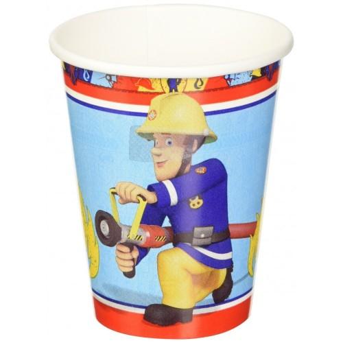 8 Bicchieri Sam Il Pompiere
