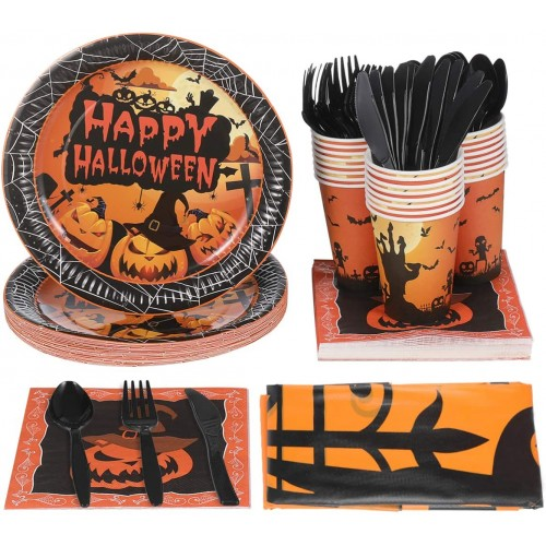 Kit 24 persone Happy Halloween, per allestimenti terrificanti