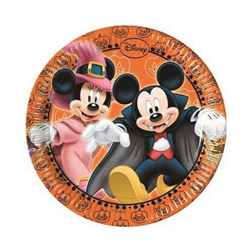 40 Piatti Topolino Mickey Mouse Halloween - Disney