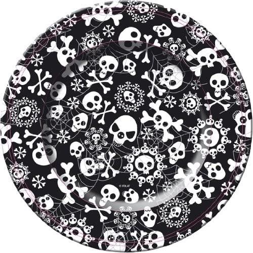 8 Piatti con teschi - Halloween, 10 x 5 cm