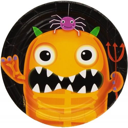 8 Piatti dessert Halloween - Amscan Boo - Crew