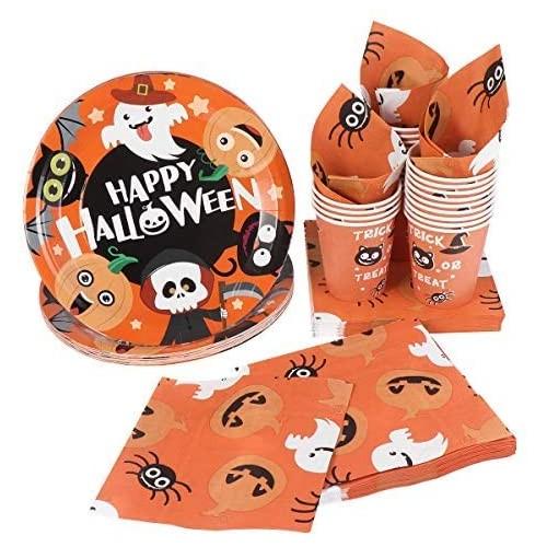 Kit per 24 bambini tema Happy Halloween, usa e getta
