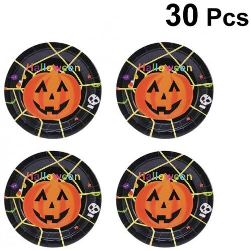 30 Piatti di carta tema Halloween, usa e getta