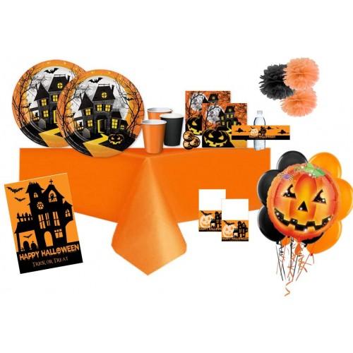 Kit 16 persone Halloween Haunted Hill, coordinato completo