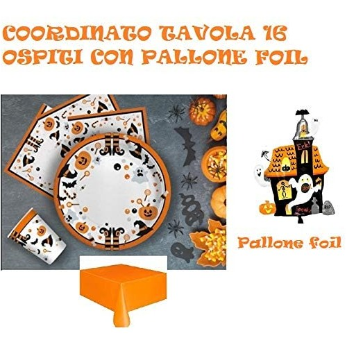 Kit per 16 persone Hallowen Party new