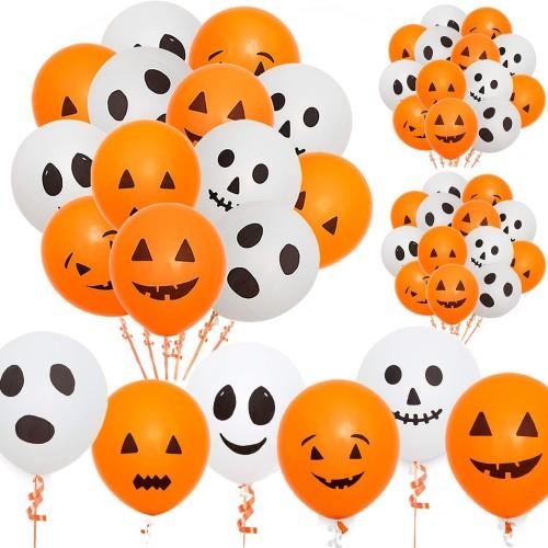 60 palloncini in lattice zucca di Halloween e fantasmi
