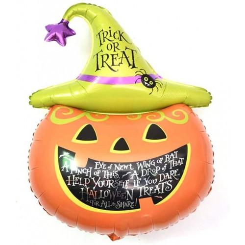 Palloncino zucca Halloween, supershape gigante