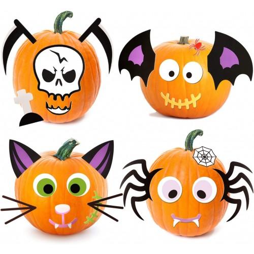 Set 25 Adesivi Zucca di Halloween, resistenti e simpaticissimi