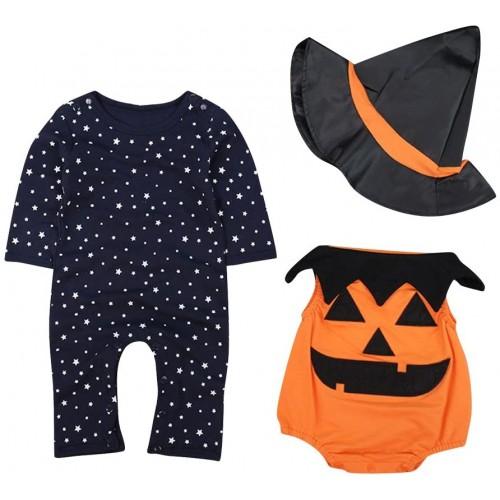 Costume bambino zucca Halloween, per neonati