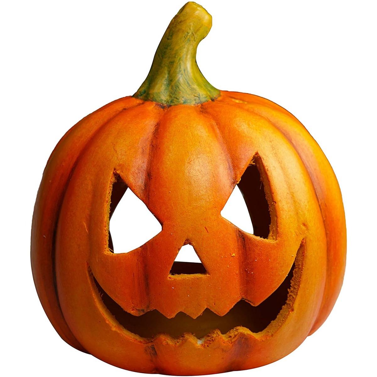 Immagini Zucca Di Halloween.Candela Lanterna Zucca Di Halloween In Vetroresina