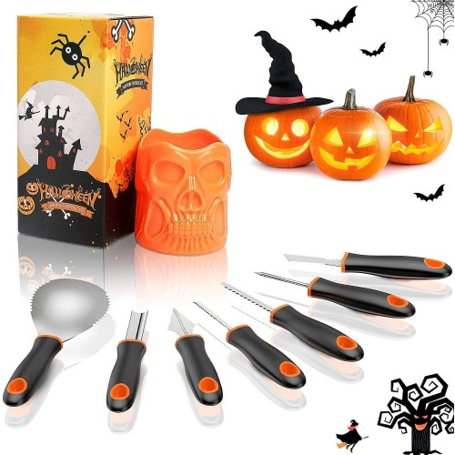 Kit Intaglio Zucca Halloween, 7 pezzi