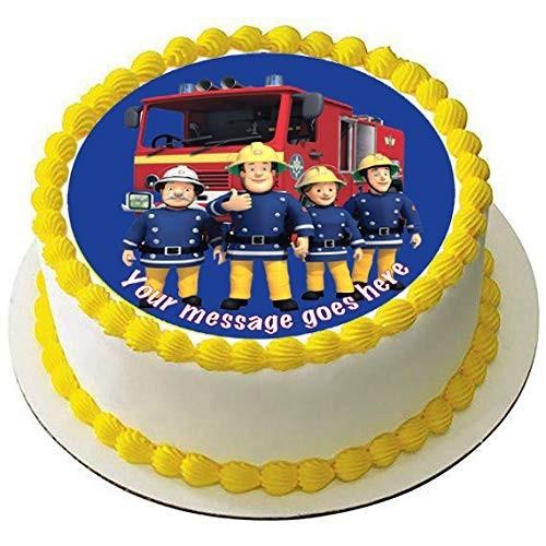 Cialda in ostia Sam Il Pompiere da 20 cm, rotonda, per torte