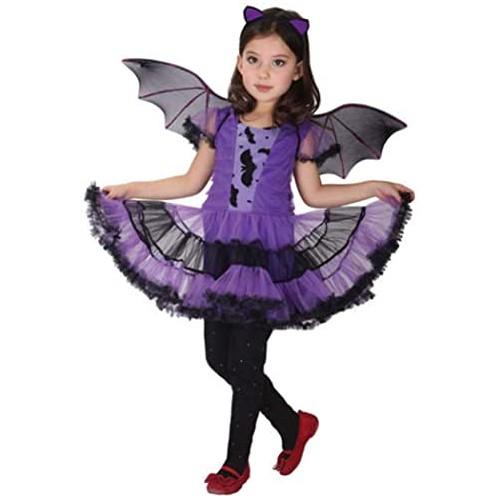 Costume Vampiro per bambina, 3 pezzi, con accessori