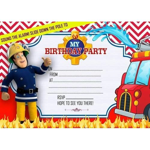 Inviti compleanno Sam Il Pompiere