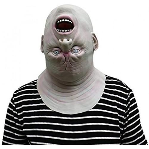 Maschera mostro a testa in giù per adulti, Halloween o Carnevale