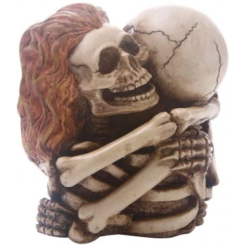 Teschio in resina da collezione, statuetta, centrotavola Halloween