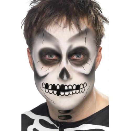Kit da scheletro trucco per il viso, matita nera e spugna