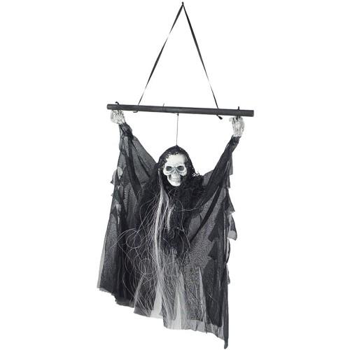 Manichino Teschio fantasma appeso, decorazione Halloween
