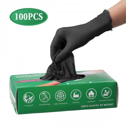 Guanti monouso in nitrile, protettivi, 100 pezzi
