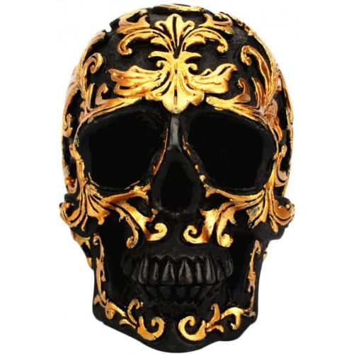 Teschio Halloween in resina, addobbo Halloween