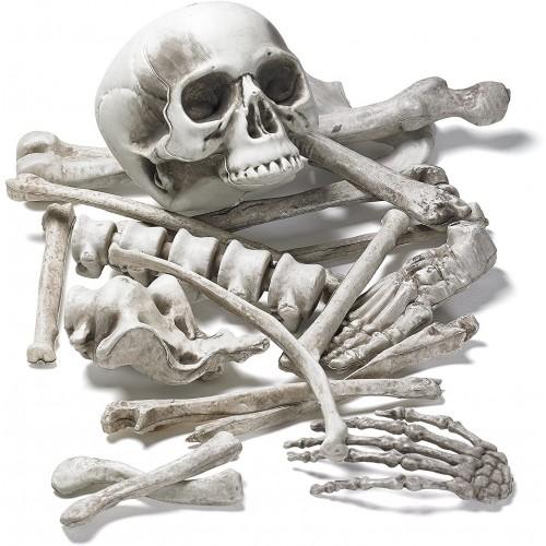 Borsa di ossa e teschio , 18 pezzi, decorazione di Halloween