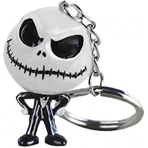 Portachiavi scheletro simpatico di Halloween, in resina, fluorescente