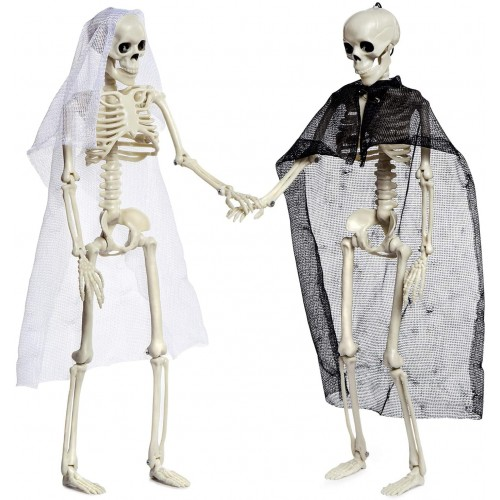 Set 2 Scheletri sposi di Halloween, addobbi originali