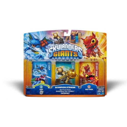 ACTIVISION Skylanders Giants: Personaggi Battle Pack Catapult  Zap + Scorpion Striker + Hot Dog