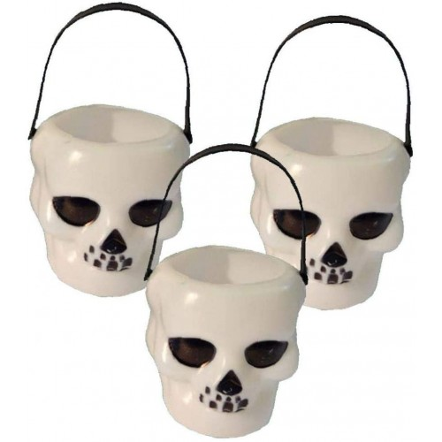 6 barattoli forma teschio per caramelle - Halloween, terrificanti