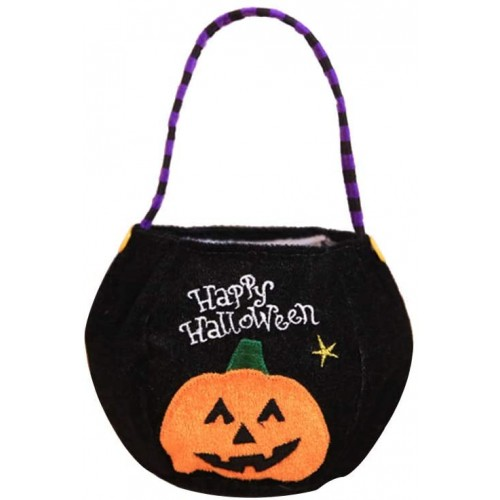 Cestino forma zucca  per Halloween, contenitore