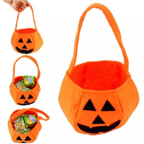 12 borse forma zucca in tessuto, per Halloween