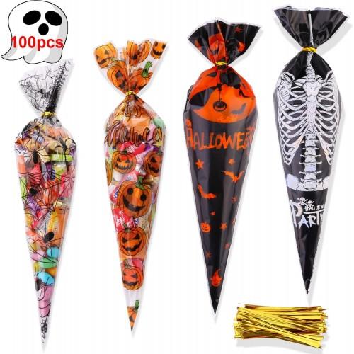 Set 100 coni sacchetti di Halloween per dolcetti