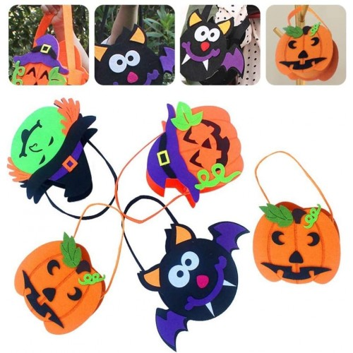 5 porta caramelle Halloween, grafiche assortite