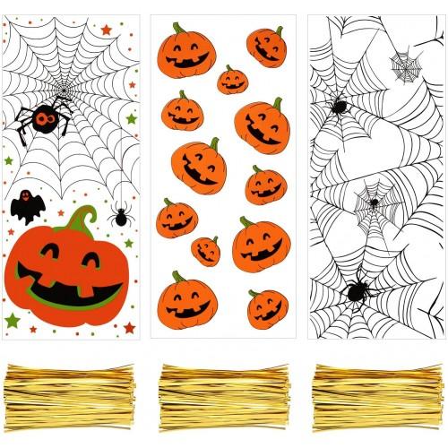 150 Sacchetti trasparenti in cellophane di Halloween