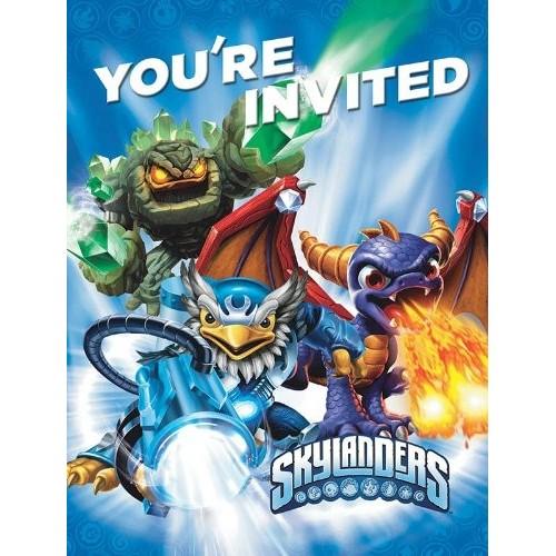8 Inviti di compleanno Skylanders Giants