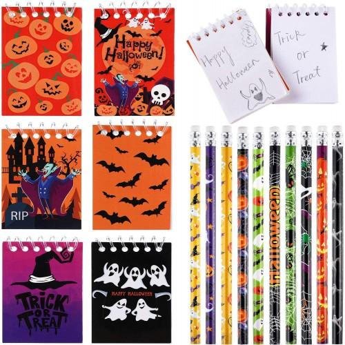 40 Blocchetti per Appunti di Halloween, con 10 matite omaggio