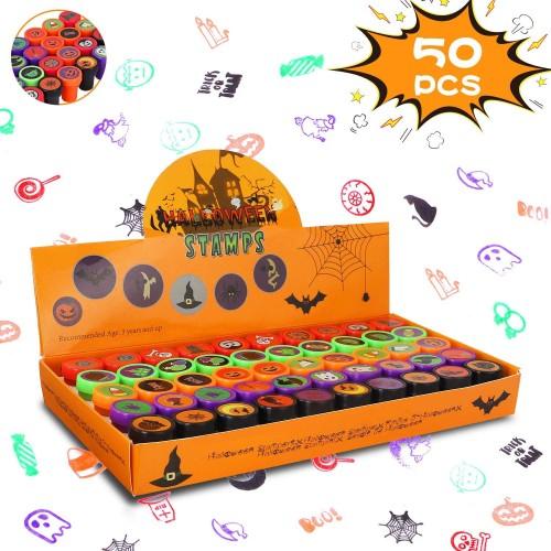 Set 50 timbri per Halloween con espositore