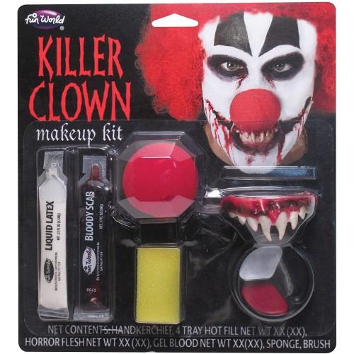 Trucco Makeup Killer Clown IT, pittura facciale e accessori