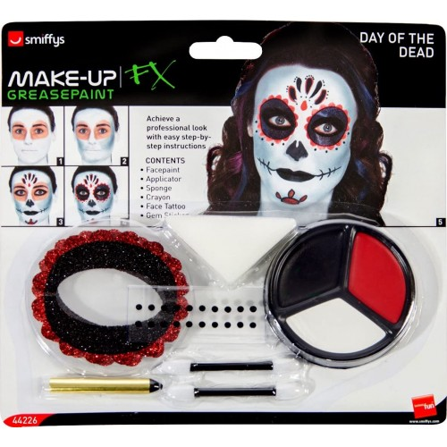 Set Make Up Day of the Dead, colori viso e tatuaggi
