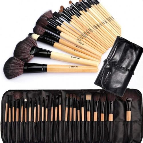 24 pennelli professionali per trucco, make up, con borsa