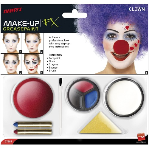 Set trucco da Clown, make up professionale