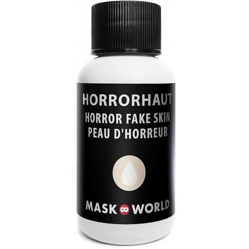 Make-up pelle finta, latte di lattice, volto horror