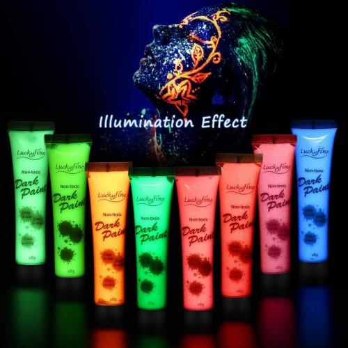 Vernice Fluorescente per corpo, 8 colori