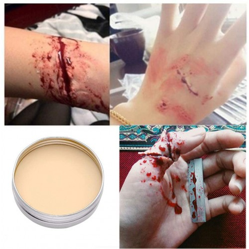 Cera da trucco per Halloween da 30 gr, per cicatrici e ferite