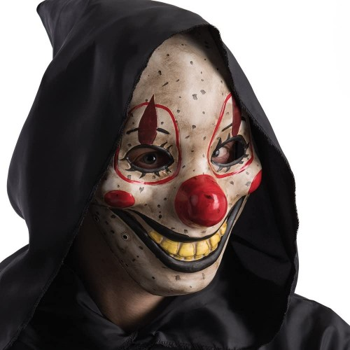 Maschera da Clown Horror con mandibola mobile, per Halloween