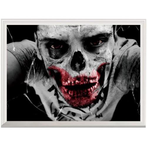 Adesivo murale Halloween - Men Skull Ghost 3D