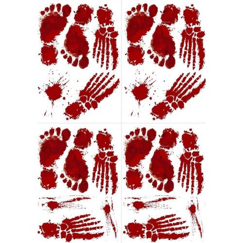 Set 44 Adesivi vetrofanie per Halloween, macchie di sangue