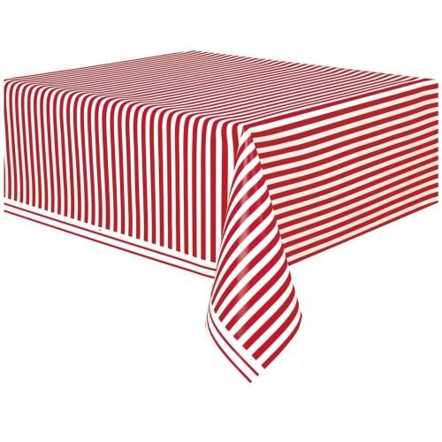 Tovaglia strisce rosse tema circo