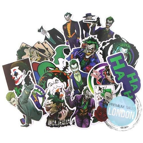 Set 19 adesivi, Sticker di Joker di Batman, DC Comics